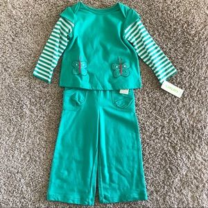 NWT Girl's Carter's 24 month matching 2 pc outfit